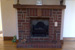 Fireplace with oak top finish