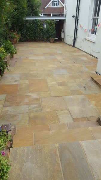 A new patio in Woodlands Road, Hassocks