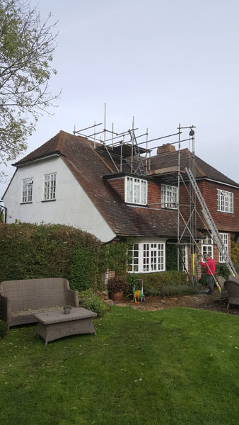 A redundant chimney that was taken down and a new rafter was supplied and fitted. Then it was felt, battened and tiled over