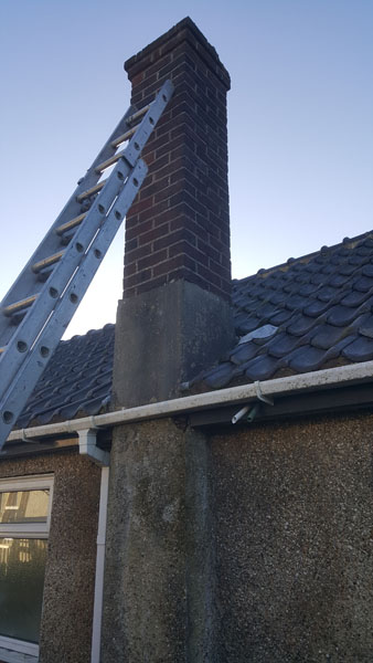 An obsolete chimney that was taken down and tiled over in Farnham Avenue, Hassocks