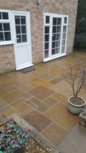 New Patio laid in Nursery Close, Hurstpierpoint . Inset manholes look so much better than the manhole covers