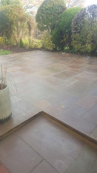 New patio laid in In holmes Park Road Burgess Hill