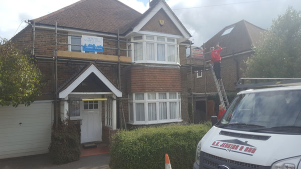 New soffits, facias,guttering and down pipes replaced in plastic