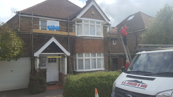 New soffits,facias and guttering in Chancellors Park, Hassocks
