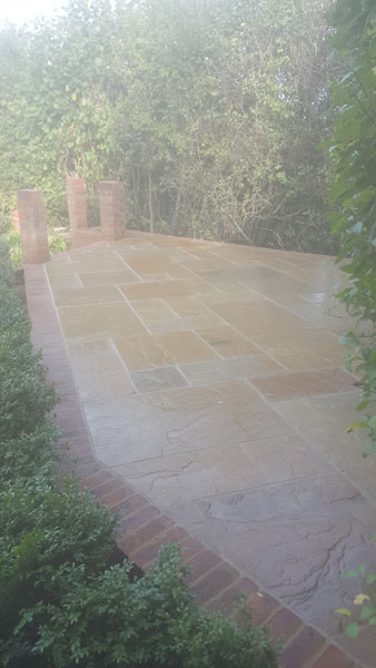 Patio Before during and after in Common Lane Ditchling