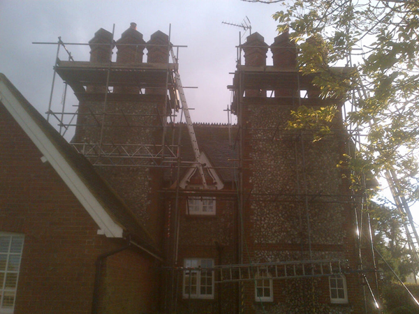 Chimney's that were cut out and re-pointed. Langton Lane, Hurstpierpoint.