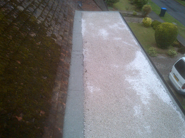 A flat roof to a dormar in Ockendean Way in Hassocks being refelted.