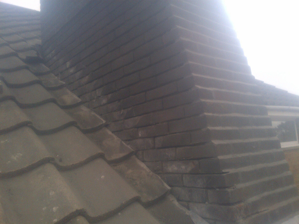 Chimney's that were cut out and re-pointed. Albourne.
